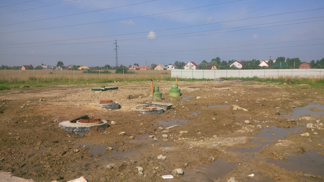 Монтаж канализации окончание работ